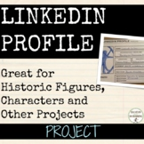 Biography Build a LinkedIn Profile for Character or Historic Figure EDITABLE