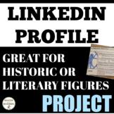 Biography Build a LinkedIn Profile ELA or History EDITABLE RUBRIC