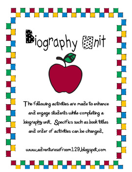 Biography Mini Unit