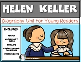 Helen Keller Mini Biography for Young Readers First Grade ELA Non Fiction
