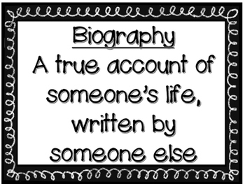 Biography Mini-book