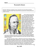 History TECUMSEH Native America Shawnee Indian w/ 10 Reading Comprehension Ques