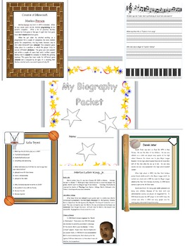 Biography - NonFiction - Packet