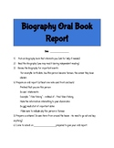 Biography Oral Book Report