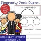 Biography Oral Book Report Template