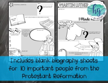 Biography Pages for the Protestant Reformation