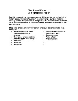Biography Paper