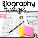 Biography Nonfiction Reading Passages