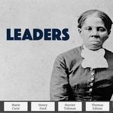 Biography Passages & Questions Emphasizing Leadership Traits Set 2