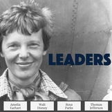 Biography Passages & Questions Emphasizing Leadership Traits Set 3