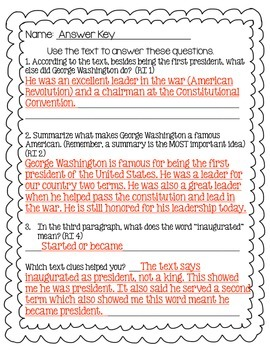 Biography Passages with Core Questions