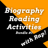 Biography Passages with Questions and Timelines Using History Songs Bundle #1