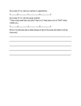 Biography Peer Edit Checklist