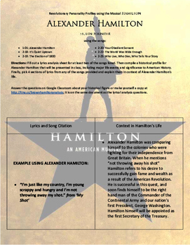 Biography & Personality Profiles using Hamilton the Musical