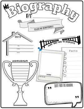 Biography Planning Sheet (Amazing Free Resource)******