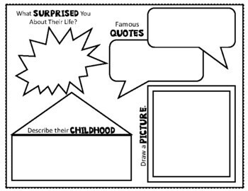 Biography Poster: Two-Page Biography Graphic Organizer