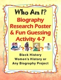 Biography Poster Research Project Who Am I? Fun Guessing Activity 4-7