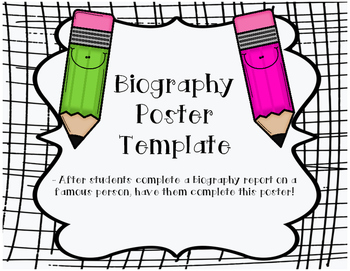 Biography Poster Template