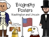 President's Day - Biography Posters - Washington & Lincoln