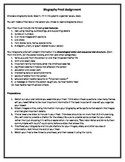 Biography Prezi Assignment, Graphic Organizer, and Rubric