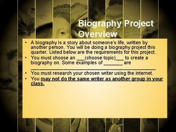 Biography Project