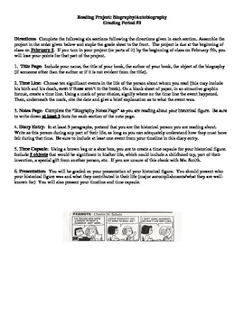 Biography Project Description and Rubric