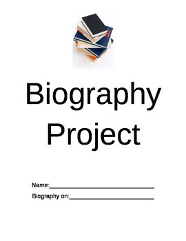 Biography Project - Elementary Level