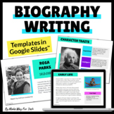 Biography Project Google Slides | Biography Report Templates | Writing Templates