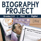 Biography Project {Grades 2-5} | Distance Learning | Google Slides