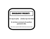 Biography Project: Information/Research Packet