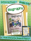 Biography Project ~ Interactive Research Papers, Lesson 3 ~ Common Core Writing