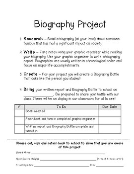 Biography Project Packet