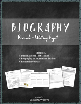 Biography Project | Research & Article Writing Project | Grades 6-10