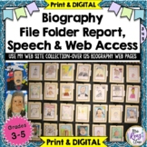 Biography Project - 6 Week Biography Report PLUS Access to Web Links + Digital