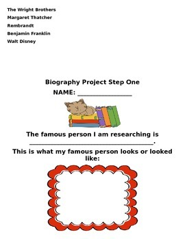 2.H.1.1, 2.H.1.2, and 2.H.1.3 Biography Project Unit for Second Grade