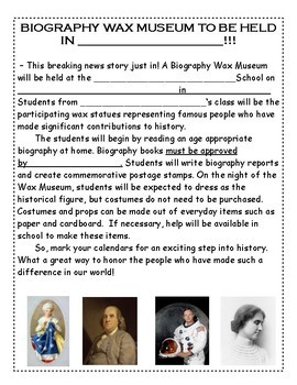 Biography Project and Wax Museum