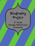 Biography Project for 3rd grade Georgia Performance Standards