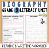 Biography Reading & Writing Unit Grade 3: 2nd Edition!!!