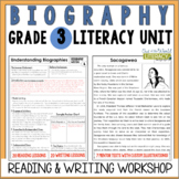 Biography Reading & Writing Unit Grade 3: 2nd Edition!!!