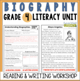 Biography Reading & Writing Unit Grade 4: 2nd Edition!!!