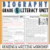 Biography Reading & Writing Unit Grade 5: 2nd Edition!!