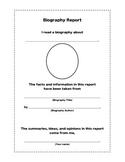 Biography Report Grades 3-5