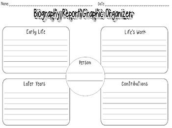 Biography Report Graphic Organizer