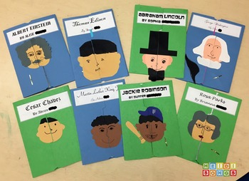 Biography Report Graphic Organizer and Lapbook