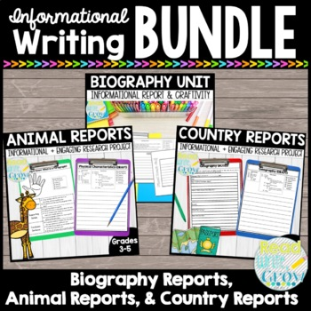 Informational BUNDLE: Animal Reports & Biography Reports {