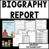 Biography Research Report Resource