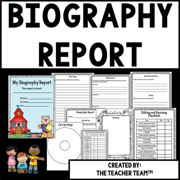 Biography Report Packet for Elementary Grades