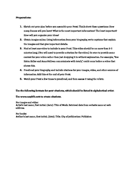 Biography Report Project Assignment