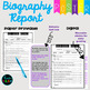 Biography Report Template for Intermediate Grade