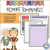 Biography Report Templates and Graphic Organizers